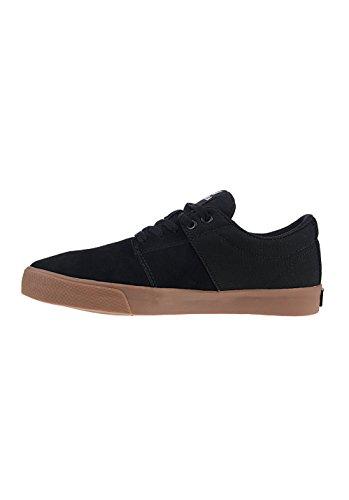 Supra STACKS VULC II, unisex adultos 'low-top zapatillas negro/marrón