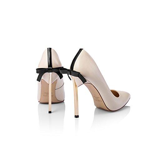 Fine Bows Femmes 10 Wysm Talons Chaussures Shallow Haute Beige 3cm Pompes xH8wHaXYq
