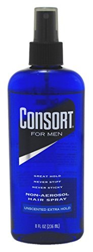 Consort Non-Aerosol Hair Spray for Men, Unscent, 8 Oz