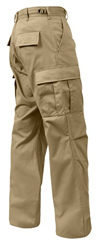 Rothco Relaxed Fit Zipper Fly BDU Pants, Khaki, XX-Large (Khaki Bdu Jacket)