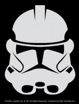 STAR WARS MOVIE CLONE WARS TROOPER HELMET LOGO VINYL STICKERS SYMBOL 5.5