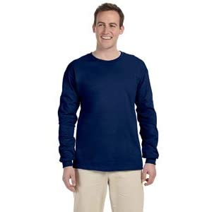 Gildan Ultra Cotton 6 Oz. Long-Sleeve T-Shirt (G240)- Navy,XX-Large