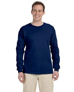 Gildan Ultra Cotton 6 Oz. Long-Sleeve T-Shirt (G240)- Navy,XX-Large - Gildan Ultra Cotton Heavyweight Tee