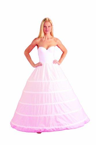 5 Bone Hoop Skirt Bridal Renaissance Civil War Skirt Slip (CH150DS) - Bras N Skirt