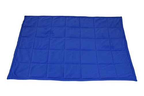 Abilitations Fleece Weighted Blanket, Large, Blue by Abilitations