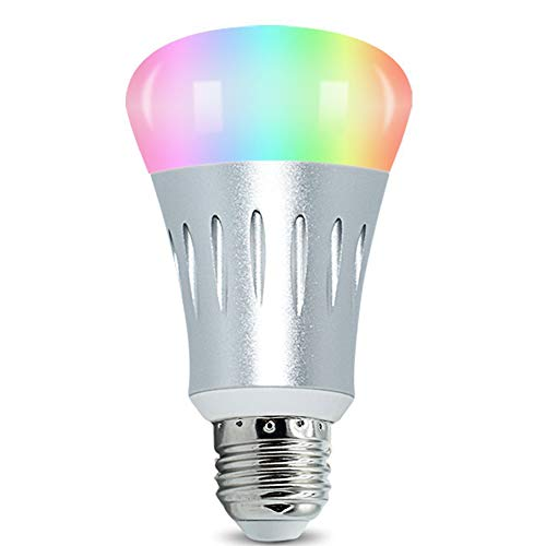 Cheap Wifi Remote Control 16 Millions Colors Smart Bulb Universal Holder Home Lighting Support Amazon Alexa and Google Home support Android and Ios App.