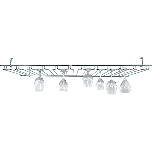 11 Channel Overhead Stemware Rack - Chrome