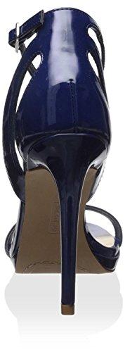 Steve Madden Steven by Women's Rebeca Sandal Blue Patent JH2I0fJCY