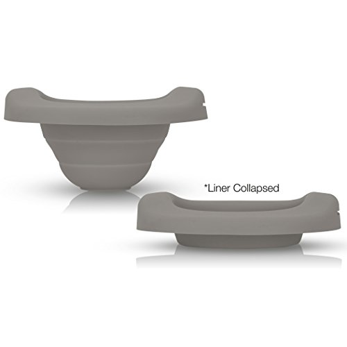 Kalencom Potette Plus Collapsible Reusable Liner for Home Use with The 2-in-1 Potette Plus Potty (Sold Separately) (Gray)