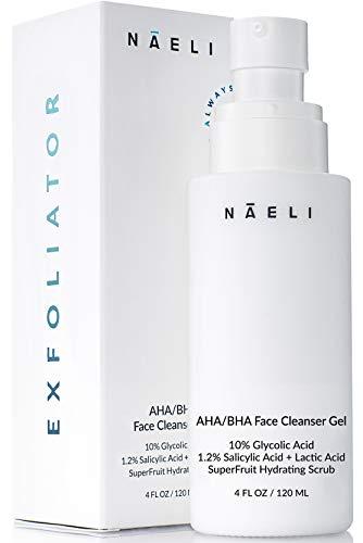 AHA/BHA Exfoliator for Face – 10% Glycolic Acid with Salicylic Acid, Fruit Antioxidants & Peptides – Exfoliating…