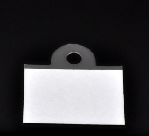 Plastic Jewelry Display Card Hang Tags - Transparent With Adhesive 4.5x4.4cm(1 6/8x1 6/8), 50 PCs Generic