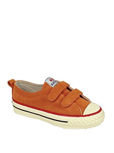 Superga 298 Suvj - Zapatos de punta redonda con cierre de velcro, Marrón (Braun), 32 Orange