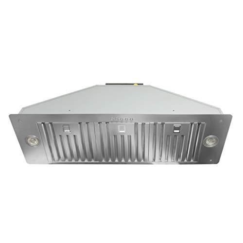 KOBE Range Hoods INX2736SQB-700-2 KOBE INX27 Series 36-Inch Built-In/Insert Range Hood, Stainless Steel