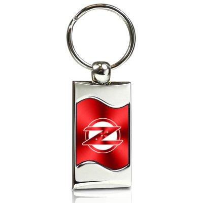Nissan 350Z Z Logo Red Spun Brushed Metal Key Chain