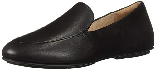 FITFLOP Women's Lena Loafers Flat, All Black, 5 M US