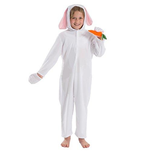 White Rabbit Costume for Kids 3-5 Years -