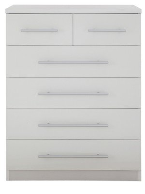 Prague  Chest Of Drawers In Ash White By Furniturefactor