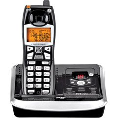 GE 5.8 GHZ Black Cordless Analog Single Handset Phone with Caller ID and Digital Answering System (25942EE1)