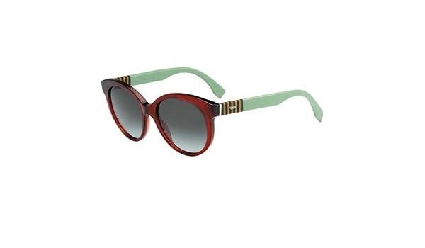 Amazon.com  Fendi FF 0013 S Sunglasses 07TI Burgundy Green   Gray Lens  53mm  Shoes 084a57243addc