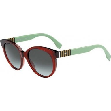 35bc0c24f47 Image Unavailable. Image not available for. Color  Fendi FF 0013 S  Sunglasses 07TI Burgundy Green   Gray ...