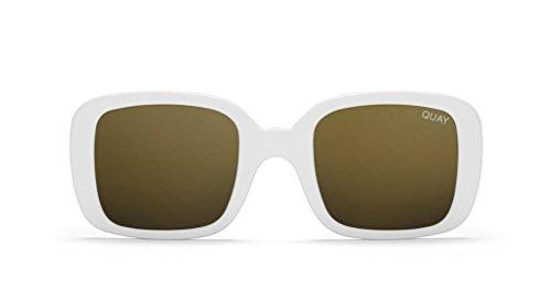 Quay X Kylie 20's Sunglasses (White, - Quay White Sunglasses