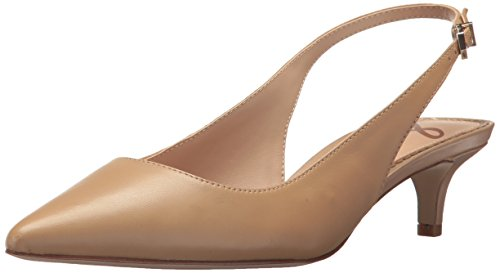 Shoes Slingback Leather (Sam Edelman Women's Ludlow Pump, Classic Nude Leather, 7 M US)