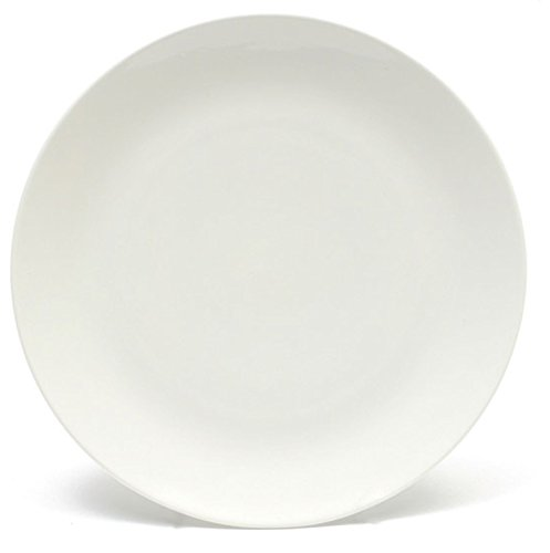 Melange Coupe 6-Piece Salad Plate Set, White, 8.5""