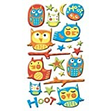 EK Success Puffy Dimensional Stickers - Hoot