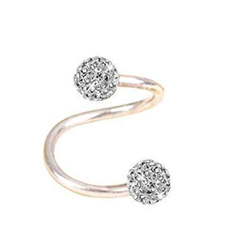 Surgical Steel Twist Helix Cartilage Crystal Ear Stud Body Piercing Earring 16g
