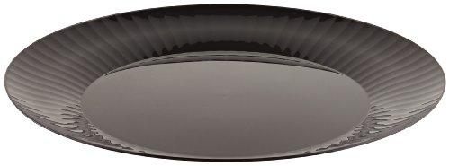 Prestige Rigid Plastic Round Plate, 10.25-Inch Diameter, Black (120-Count)