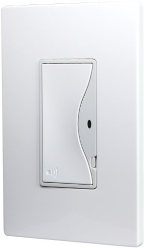Eaton RF9518AW ASPIRE RF Single-Pole Wireless Light Switch, 8-Amp, Alpine White Finish