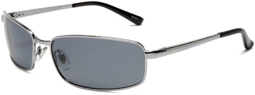 Sunbelt Men's Neptune 190 Polarized Sunglasses,Gunmetal Frame/Grey Lens Frame/Grey Lens,one size (For Sunglasses Men Rectangle)