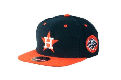 Astros Jacket Houston (Wright & Ditson MLB Men's Houston Astros Blockhead Snapback Cap (Navy/Orange, Adjustable))
