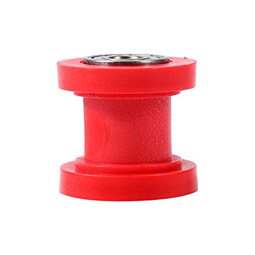 8mm Universal Pulley Chain Roller Slider Tensioner Wheel Guide for Motorcycle Pit Dirt Mini Bike Atv(Red)