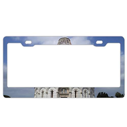 SFHU Piazza Dei Miracoli Italy Cement Tile License Plate Frame 2 Holes Alumina