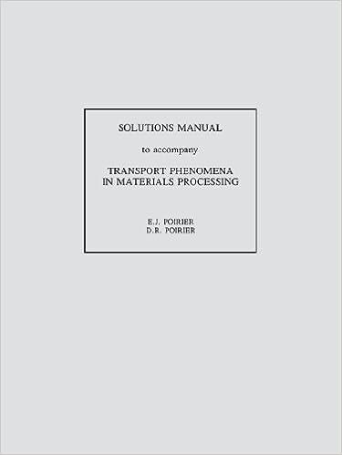 Amazon transport phenomena in materials processing solutions transport phenomena in materials processing solutions manual 1st edition fandeluxe Choice Image