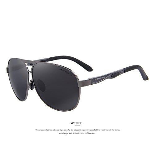 polarizadas la HD Guía aluminio de C02 C02 Gris recubrimiento de Defender Gafas TIANLIANG04 EMI sol tonos lentes Gray clásico Los las hombres gafas de de de XwxvUnpq