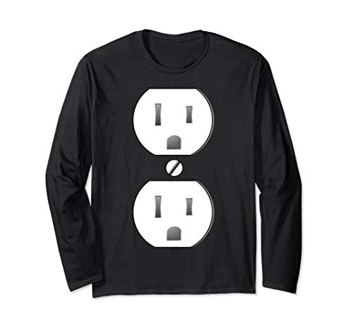 Electrical Outlet Socket Easy Costume Long Sleeve T-Shirt]()