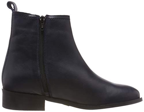 Femme Sauvage Chelsea Bleu Leather Bottes Navy Buffalo 00 Almond BXw5a