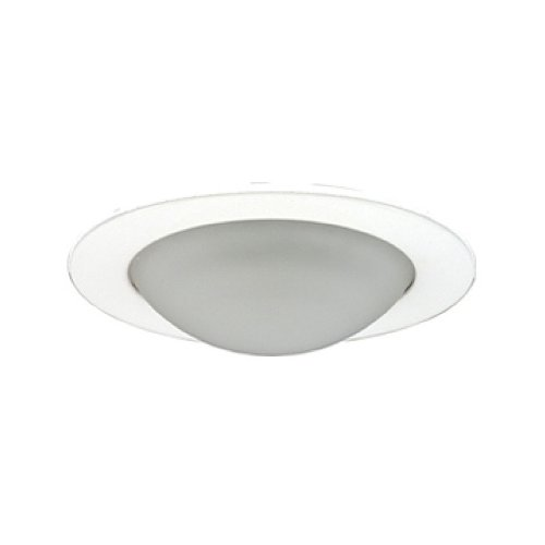 Jesco Lighting TM315WH 3-Inch Aperture Low Voltage Trim Recessed Light, Frosted Opal Dome For Shower, White - Dome Shower Frosted