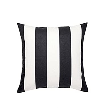 Ikea Vargyllen Striped Black and White 100 Percent Cotton Cushion Cover