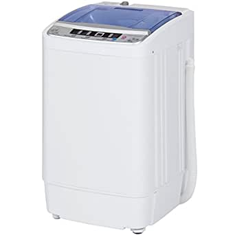 best choice products portable compact automatic washing machine spin cycle w drain. Black Bedroom Furniture Sets. Home Design Ideas
