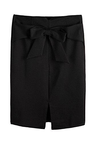 Entreprises Haute Bodycon Taille Jupe Black Jupes yulinge Fente Taille Et qId6Sq