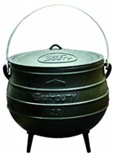 best duty cast iron potjie pot size 25