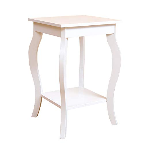 Tables ZR-Wall Oak Side Hall Lamp Plant Consol Tall Coffee Wine Hallway Furniture Small -Save Space (Color : White)