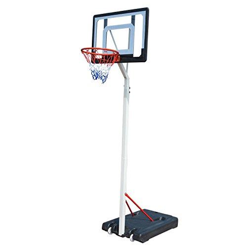 Lantusi Basketball Hoop Backboard Rim System Portable Adjustable Height Indoor/Outdoor For Adult Kids