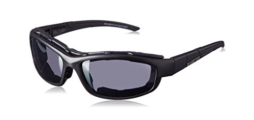 Bobster BRW101 XRH Sunglasses, Black Frame/2 Frame Fronts (Smoked and Clear)