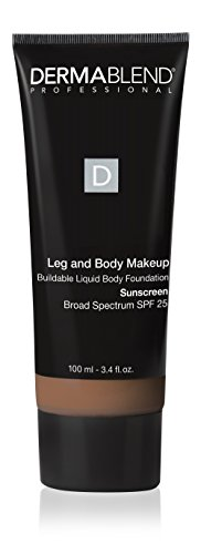 (Dermablend Leg and Body Makeup Foundation with SPF 25, 65N Tan Golden, 3.4 Fl. Oz.)