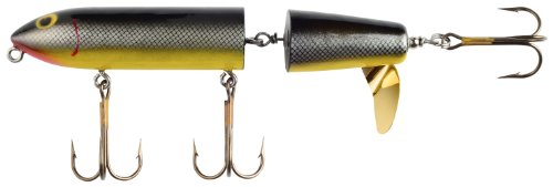 UPC 017997005284, Yakima Bait POE's Awaker Hand Crafted Jointed Cedar Surface Spinner, 8-Inch, Perch