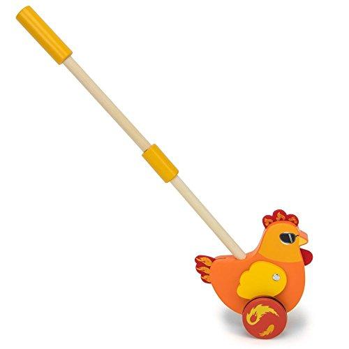 (Radical Racers Chicken Wooden Push Walking Toy - Kid Powered!)